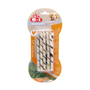 8IN1 DELIGHTS TWISTED STICKS, 10x55G
