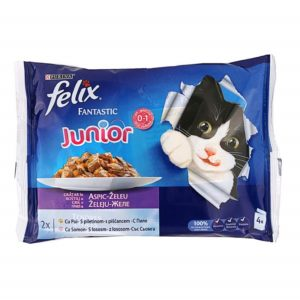FELIX FANTASTIC JUNIOR PILETINA, 4X100G