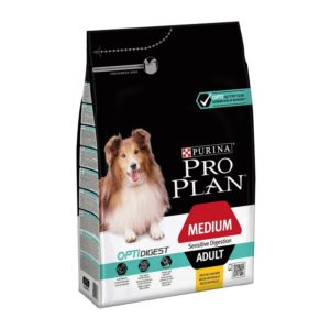 PRO PLAN MEDIUM ADULT SENSITIVE DIGESTION, 10,5KG+3,5KG GRATIS