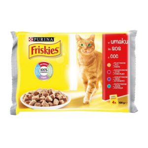 FRISKIES MM MP MESO (PILETINA, GOVEDINA, JANJETINA, PAČETINA), 4X100G